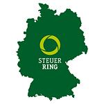 Silhouette von Deutschland mit Steuerring Logo
